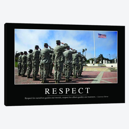 Respect Canvas Print #TRK1138} by Stocktrek Images Canvas Wall Art