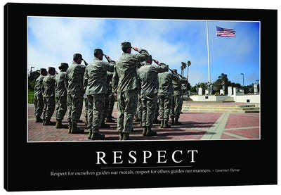 Respect Canvas Art Print