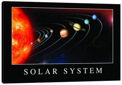 Solar System Poster Canvas Art Print