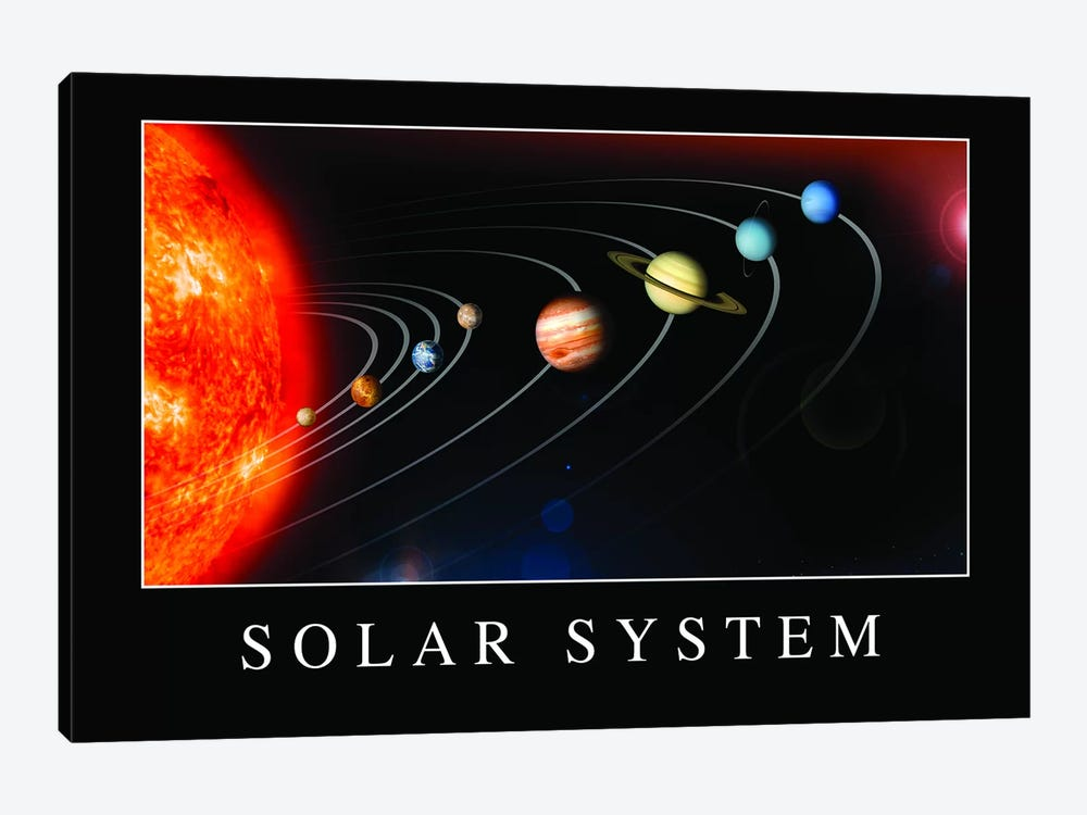 Solar System Poster by Stocktrek Images 1-piece Canvas Wall Art