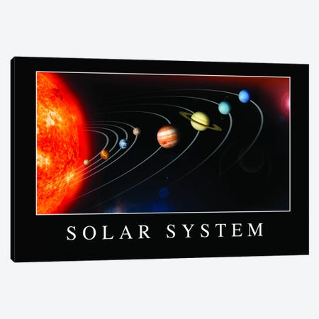 Solar System Poster Canvas Print #TRK1142} by Stocktrek Images Art Print