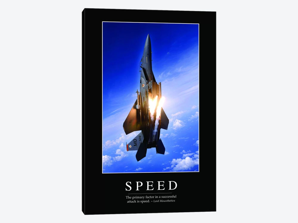 Speed 1-piece Canvas Wall Art