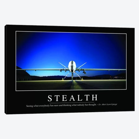 Stealth Canvas Print #TRK1147} by Stocktrek Images Canvas Art