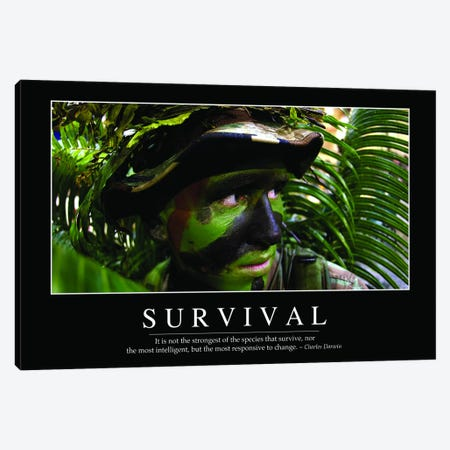 Survival Canvas Print #TRK1151} by Stocktrek Images Canvas Artwork