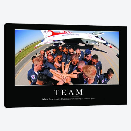 Team Canvas Print #TRK1152} by Stocktrek Images Canvas Wall Art
