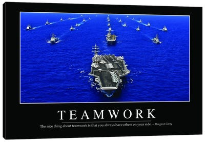 Teamwork Canvas Art Print