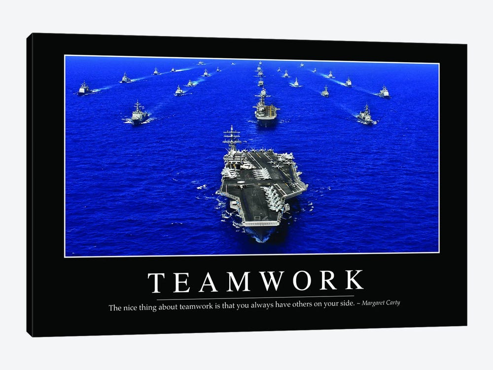 Teamwork by Stocktrek Images 1-piece Canvas Artwork