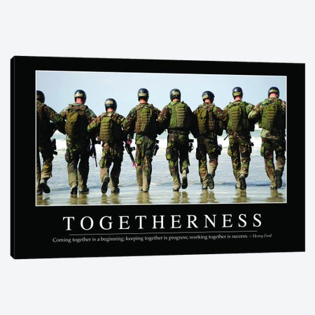 Togetherness Canvas Print #TRK1155} by Stocktrek Images Art Print
