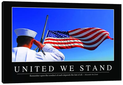 United We Stand Canvas Art Print