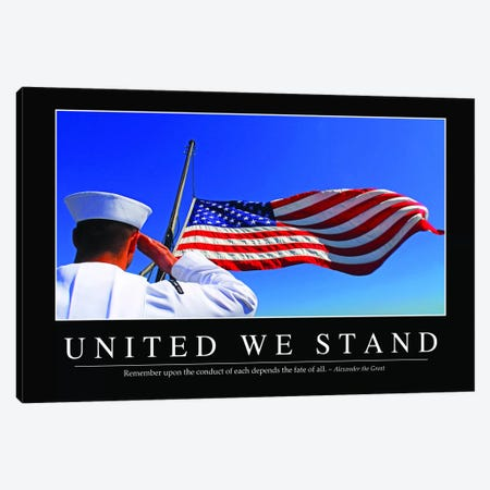 United We Stand Canvas Print #TRK1160} by Stocktrek Images Canvas Art Print