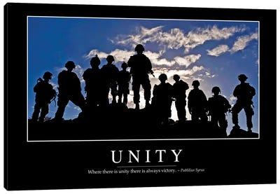 Unity Canvas Art Print