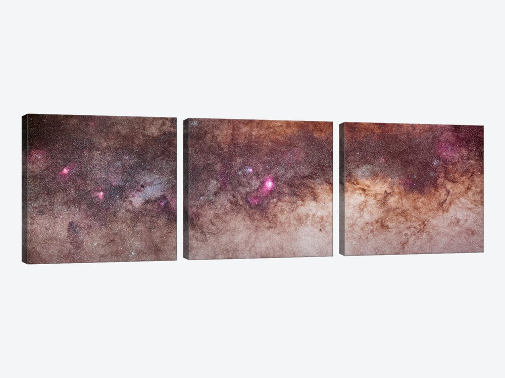 Mosaic Of The Constellations Scorpius And Sagittarius In The Southern Milky Way by Alan Dyer 3-piece Canvas Wall Art