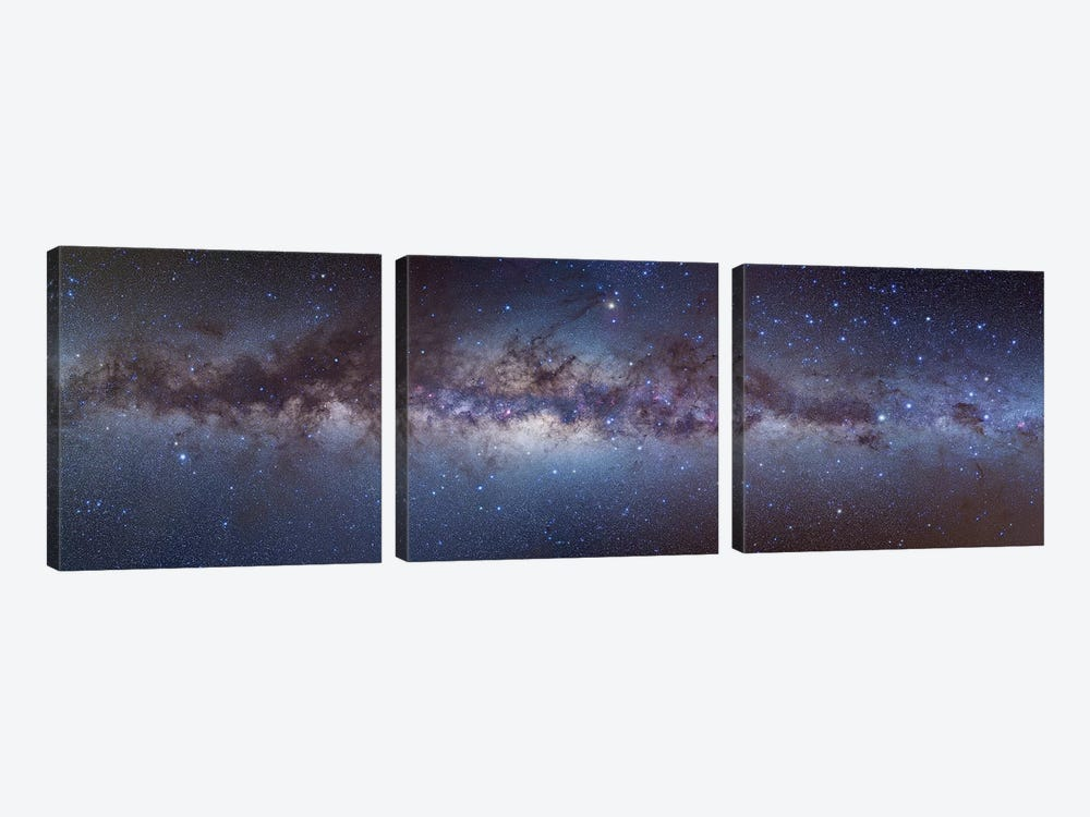 Panorama View Of The Center Of The Milky Way by Alan Dyer 3-piece Canvas Wall Art