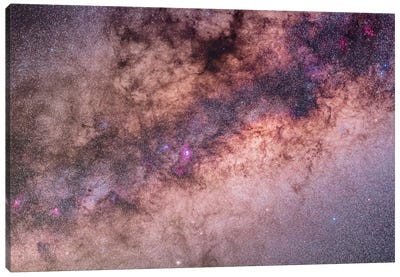 The Center Of The Milky Way In Sagittarius And Scorpius II Canvas Art Print