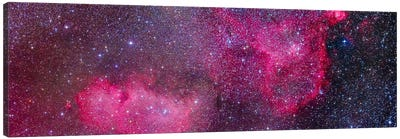 The Heart And Soul Nebulae In The Constellation Cassiopeia Canvas Art Print