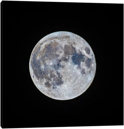 The Mini-Moon Of March 5, 2015 Canvas Art Print