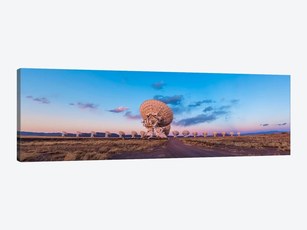 The Very Large Array Radio Telescope In New Mexico At Sunset by Alan Dyer 1-piece Canvas Wall Art