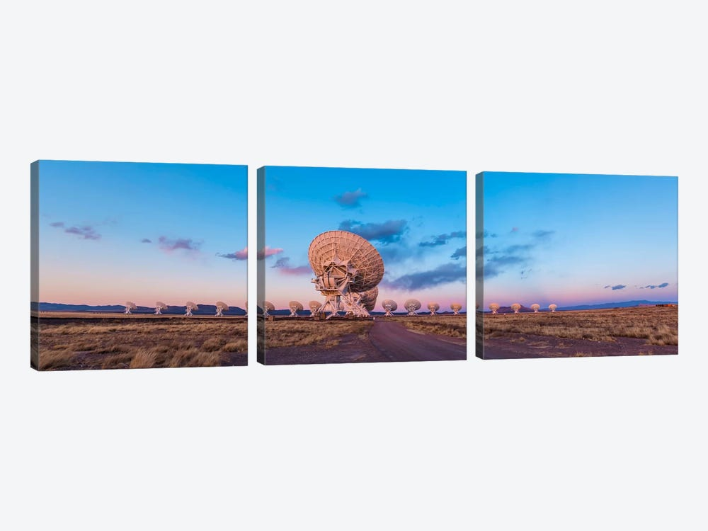 The Very Large Array Radio Telescope In New Mexico At Sunset by Alan Dyer 3-piece Canvas Artwork