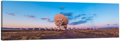 The Very Large Array Radio Telescope In New Mexico At Sunset Canvas Art Print