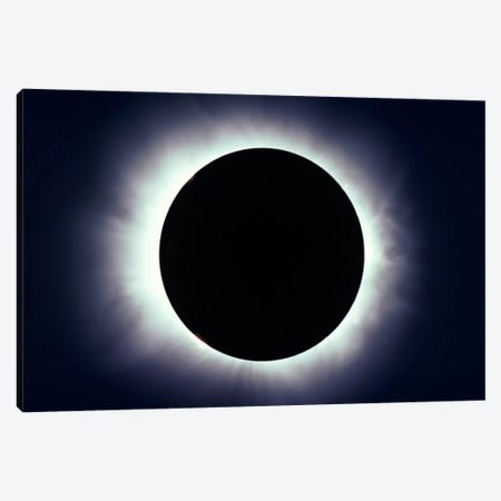 Total Solar Eclipse Taken Near Carberry, Manitoba, Canada 3-Piece Canvas #TRK1183} by Alan Dyer Canvas Art Print