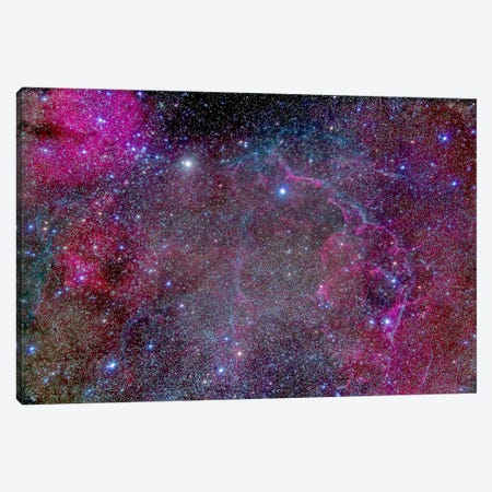 Vela Supernova Remnant In The Center Of The Gum Nebula Area Of Vela Canvas Print #TRK1184} by Alan Dyer Canvas Art