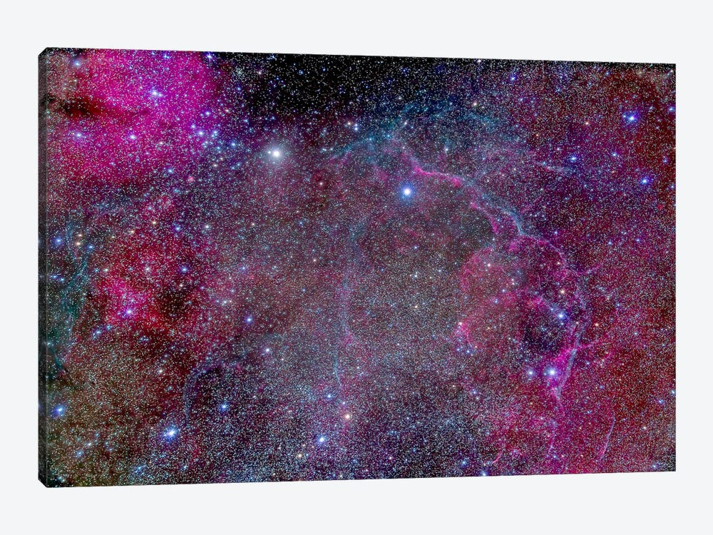 Vela Supernova Remnant In The Center Of The Gum Nebula Area Of Vela by Alan Dyer 1-piece Canvas Artwork