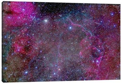Vela Supernova Remnant In The Center Of The Gum Nebula Area Of Vela Canvas Art Print
