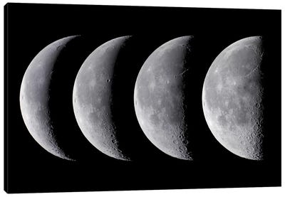 Waning Moon Series Canvas Art Print