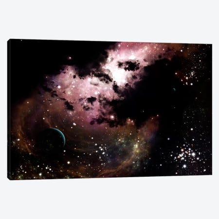 A Cluster Of Bright Young Stars Tear Away Clouds Of Gas And Dust Canvas Print #TRK1187} by Brian Christensen Canvas Wall Art