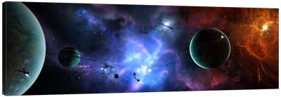 A Massive And Crowded Universe Canvas Art Print