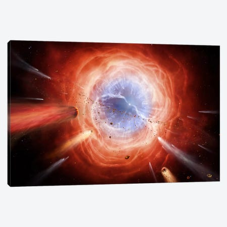 A Planetary Nebula Is Forming As The Star Expels Its Outer Layers Canvas Print #TRK1189} by Brian Christensen Canvas Print