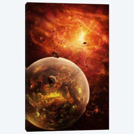An Eye-Shaped Nebula And Ring Of Glowing Debris Around A Planetary System Canvas Print #TRK1190} by Brian Christensen Canvas Artwork