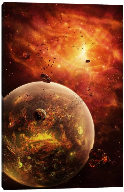 An Eye-Shaped Nebula And Ring Of Glowing Debris Around A Planetary System Canvas Art Print