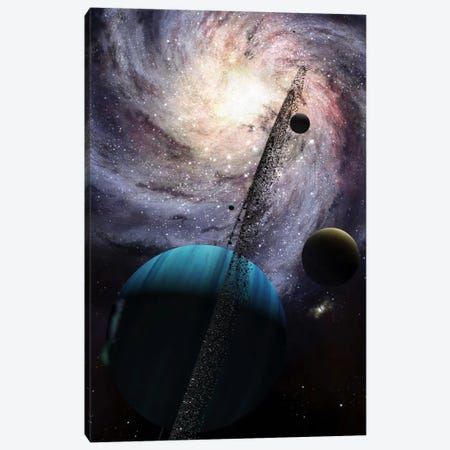 Indra, A Fast Spinning Gas Giant Generating Tremendous Tidal Forces Canvas Print #TRK1191} by Brian Christensen Canvas Artwork