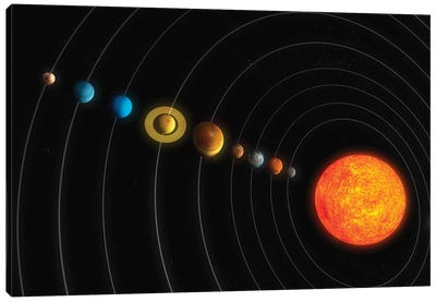 Solar System Diagram I Canvas Art Print