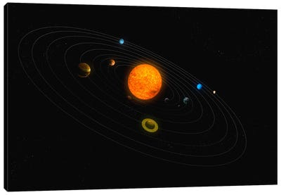 Solar System Diagram II Canvas Art Print