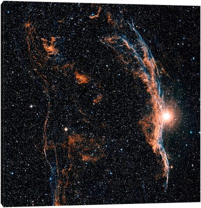 The Witch's Broom Nebula (NGC 6960) And Part Of The Veil Nebula Canvas Art Print