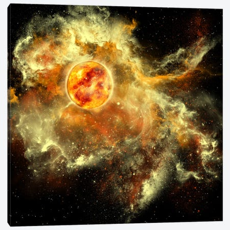 A Sun Gathers Surrounding Matter And Plasma Canvas Print #TRK1201} by Corey Ford Canvas Art