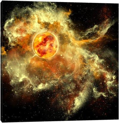 A Sun Gathers Surrounding Matter And Plasma Canvas Art Print