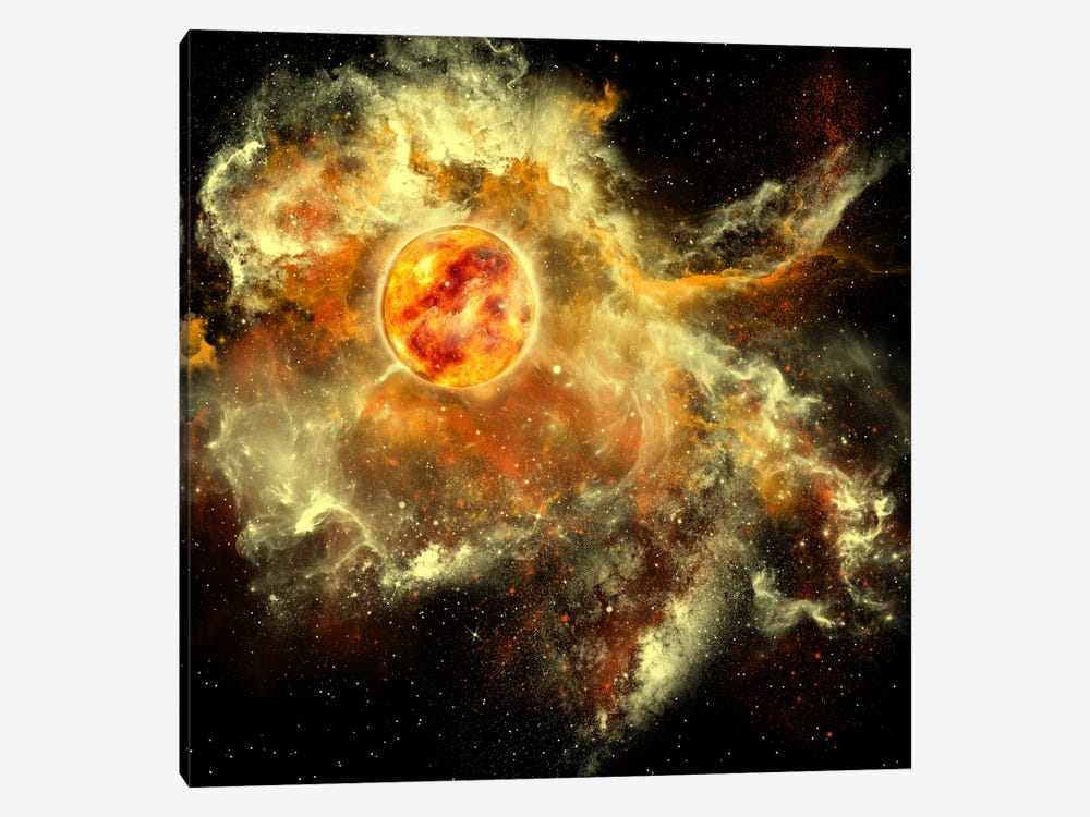 A Sun Gathers Surrounding Matter And Plasma by Corey Ford 1-piece Canvas Art Print