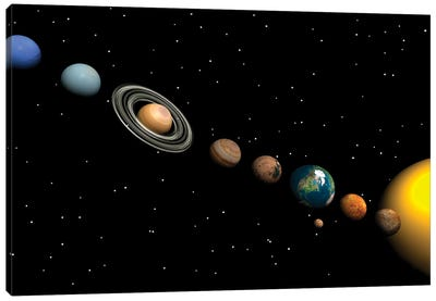 Planets Of The Solar System Canvas Art Print