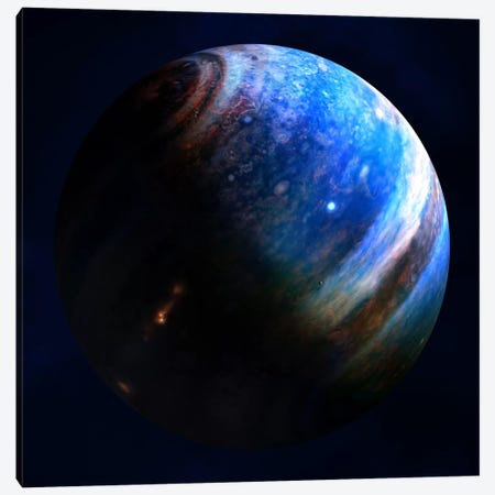 Artist's Concept Of An Extrasolar Gas Giant With Two Of Its Many Moons Canvas Print #TRK1206} by Fahad Sulehria Canvas Art Print