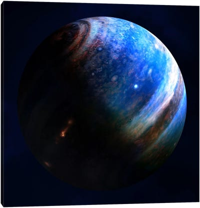 Artist's Concept Of An Extrasolar Gas Giant With Two Of Its Many Moons Canvas Art Print