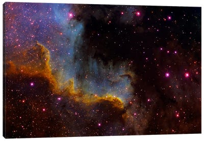 Close-Up View Of North America Nebula (NGC 7000) Canvas Art Print