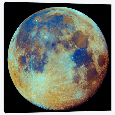 Colored Moon (Geological Differences) Canvas Print #TRK1212} by Filipe Alves Canvas Art Print