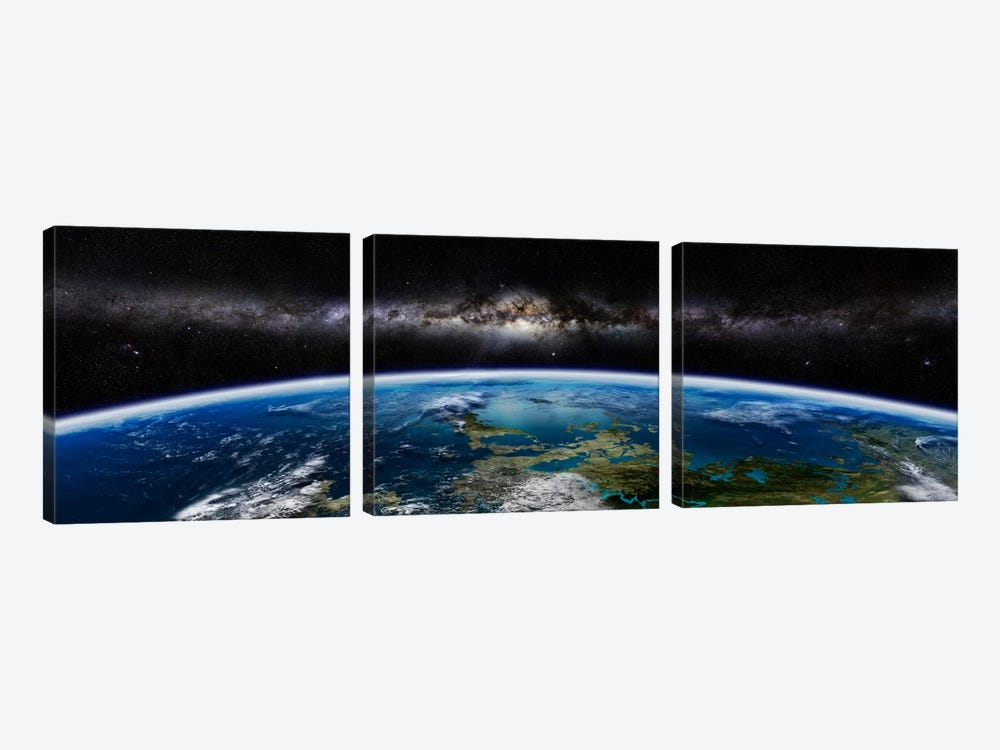 Artist's Concept Of An Extraterrestrial Planet by Frieso Hoevelkamp 3-piece Canvas Print