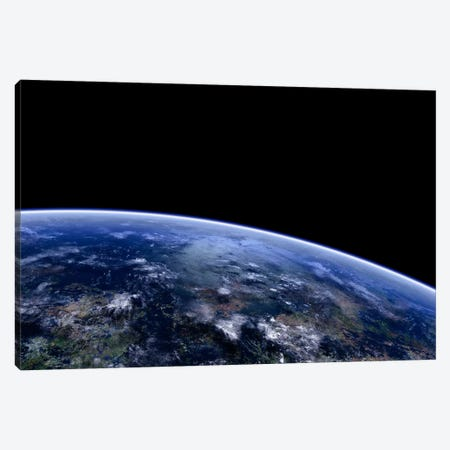Orbit Shot Of An Extraterrestrial Planet Canvas Print #TRK1215} by Frieso Hoevelkamp Canvas Artwork