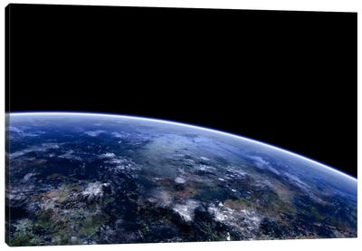 Orbit Shot Of An Extraterrestrial Planet Canvas Art Print