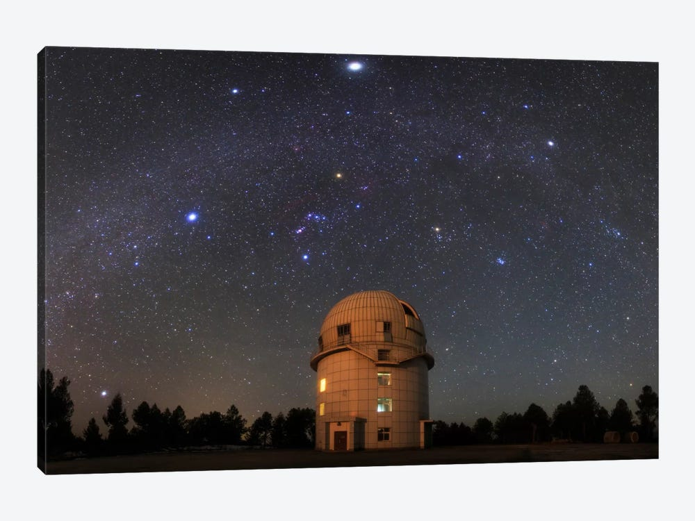 Winter Milky Way Above Yunnan Astronomical Observatory In China by Jeff Dai 1-piece Art Print