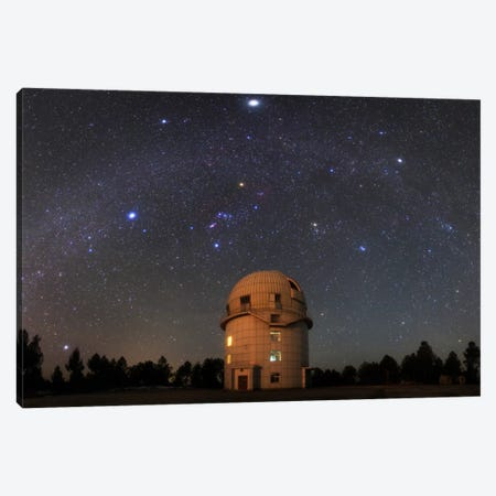 Winter Milky Way Above Yunnan Astronomical Observatory In China Canvas Print #TRK1216} by Jeff Dai Canvas Artwork